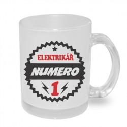 Elektrikář numero 1 - Originální dárkový hrnek s potiskem, dárek pro elektrikáře