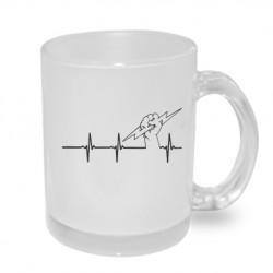 Elektrikářská křivka - Originální dárkový hrnek s potiskem, dárek pro elektrikáře