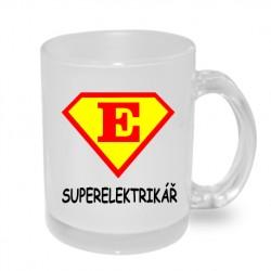 Super Elektrikář ve znaku supermana - Originální dárkový hrnek s potiskem, dárek pro elektrikáře