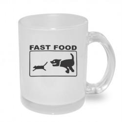 Fast Food - Originální dárkový hrnek s potiskem, humorný dárek
