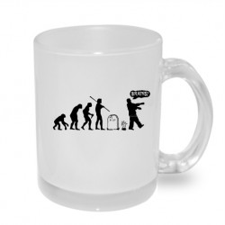 Evoluce Zombie. Originální dárkový hrnek s potiskem, dárek pro příznivce zombie