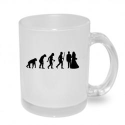 Evoluce manželství. Originální dárkový hrnek s potiskem, dárek pro novomanželé
