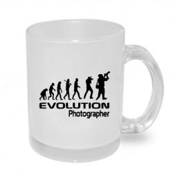 Evoluce fotograf. Originální dárkový hrnek s potiskem, dárek pro fotografy