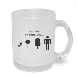 Female Evolution. Originální dárkový hrnek s potiskem, dárek pro muže