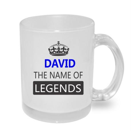 Dárek pro Davida. David the name of legends. Dárkový hrníček s jménem David.