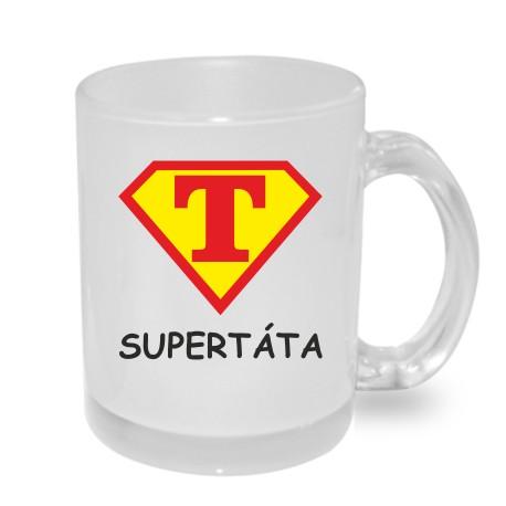 Originální dárkový hrnek s potiskem - Super Táta ve znaku supermana
