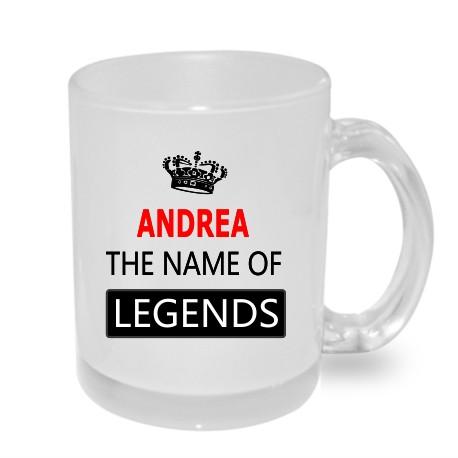 Dárek pro Andreu. ANDREA the name of legends. Dárkový hrníček s jménem Andrea.