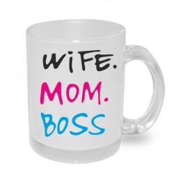 Originální dárkový hrnek s potiskem pro rodiče - Wife - Mam - Boss