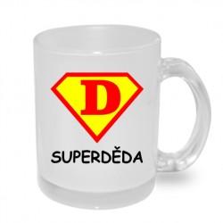 Super Děda ve znaku Supermana - Originální dárkový hrnek s potiskem pro dědečka