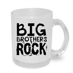 Big Brothers Rock - Originální dárkový hrnek s potiskem pro bratra