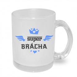Super Brácha s korunkou - Originální dárkový hrnek s potiskem pro bratra