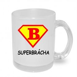 Super Brácha ve znaku Surepmana - Originální dárkový hrnek s potiskem pro bratra