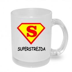 Super Strejda ve znaku Supermana - Originální dárkový hrnek s potiskem pro strejdu