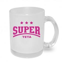Super Teta s hvězdičkama - Originální dárkový hrnek s potiskem pro tetu