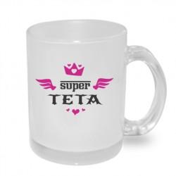 Super Teta s korunkou a křídly - Originální dárkový hrnek s potiskem pro tetu