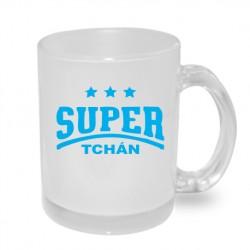 Super Tchán s třemi hvězdičkami - Originální hrnek s potiskem, dárek pro Tchána