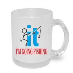 Dárkový originální hrnek s potiskem - I am going fishing it
