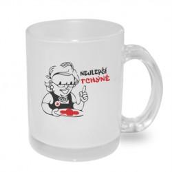 Nejlepší tchýně s vtipnou karikaturou - Originální hrnek s potiskem, dárek pro Tchýni