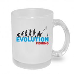 Dárkový originální hrnek s potiskem - Evolution Fishing
