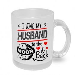 I love my husband to the moon and back - Originální dárkový hrnek