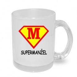 SuperManžel ve znaku supermana - Originální hrnek s potiskem, dárek pro manžela