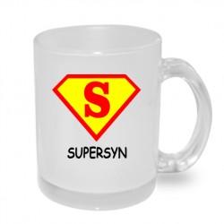 Super syn ve znaku supermana - Originální hrnek s potiskem, dárek pro syna