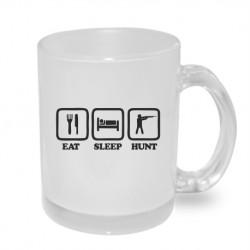 Dárkový originální hrnek s potiskem - EAT - SLEEP - HUNT