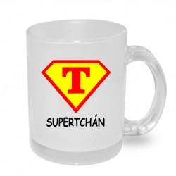 Super Tchán ve stylu supermana - Originální hrnek s potiskem, dárek pro Tchána