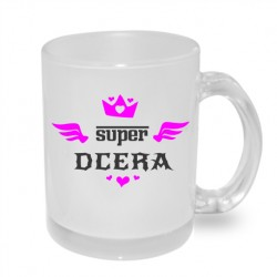 Super dcera s křidýlky - Originální dárkový hrnek s potiskem, dárek pro dceru