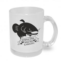 Dárkový originální hrnek s potiskem - Ryba od dna není pro slabochy