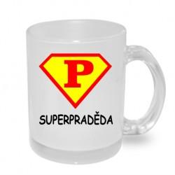 Super praděda ve stylu supermana - Originální dárkový hrnek s potiskem, dárek pro Pradědu